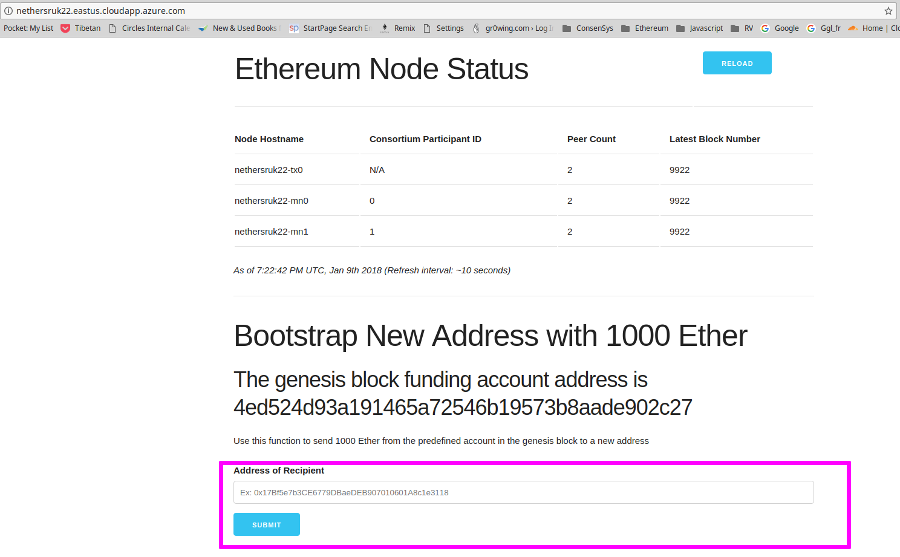 Setting up a Private Blockchain on Azure - Nethereum
